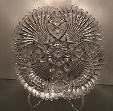 "American Brilliant Cut Glass Tray Blackmer ""Princess"""