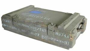 Wooden Ammo Box Wood Rope Handles Australian Army Surplus Disposal 654x349x165mm