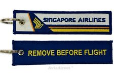 SINGAPORE AIRLINES -BLUE- Remove Before Flight tag keychain - UK -  Aviadirect®