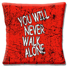 "Liverpool FC Football Anthem Cushion Cover 16""x16"" 40cm Red Grunge Mottled"
