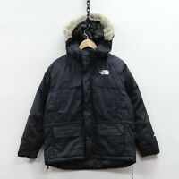 Vintage The North Face Hyvent Jacket Size Boys Large 90s Fur Hood Down Insulated