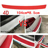Car Accessories Rear Bumper Trunk Tail Lip Protect Red 4D Carbon Fiber Stickers