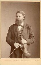 Joseph Joachim (Violin): Original 1890 Cabinet Photograph