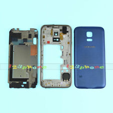 FRAME + CHASSIS + BACK COVER FULL HOUSING FOR SAMSUNG GALAXY S5 MINI G800F BLUE