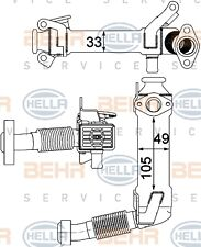 HELLA 8ME 376 750-761 COOLER EXHAUST GAS RECIRCULATION 8ME WHOLESALE PRICE