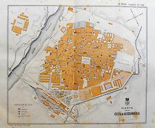 1890 Original Mappa GeoTopografica della Citta di ALESSANDRIA,Piemonte.ITALIA