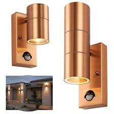 SALE~ Up Down Outdoor Outside Wall Garden Lights PIR Motion Sensor ~PALIN COPPER