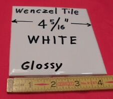 "1 pc.  *Glossy White* Ceramic Tile by Wenczel Tile Co.  4-5/16""- 4-3/8""   NOS"