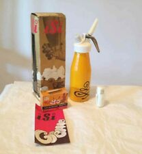 NIB Vintage 70's Yellow  Isi Cream Whipper Syphon Austria w/ Chargers 500ml NEW