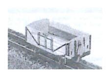 Lynton & Barnstaple 4-wheels Open Wagon (OO9 kit) - Dundas DM15 - F1