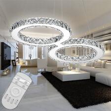 Kristall LED 32W Dimmbar Deckenlampe Hängelampe Kronleuchter mit Fernbedienung