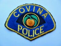 Vintage Covina, CA Police Department Felt 1st Issue Cheese Cloth Patch Used