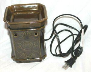 Scentsy Electric Wax Warmer ~ Porta ~ Retired ~ Full-Size ~ Olive Green ~ EUC