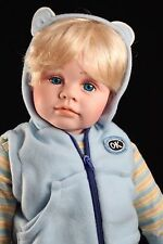 "Cathay Collection 20"" Musical Vinyl Boy Doll Blonde & Blue Eyes LTD #0176/5000"