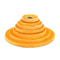 """4""""-12"""" Cloth Buffing Wheel 50 Plys Cotton Polishing Pad for Jewelry 5/8"""" Bore"""