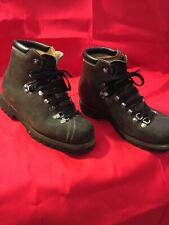 Genuine Vintage Swiss Army Boots Brown Leather Men's