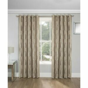 "Enhanced Living 'Ritz' Blockout Thermal Eyelet Curtains - Natural (46"" x 54"")"