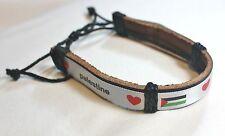 New Palestinian Bracelet - Palestine Heart Flag Adjustable Wristband - Model # 4