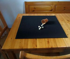 Würfelunterlage Kniffel Knobel Filzunterlage 70 x 70cm Wollfilz schwarz