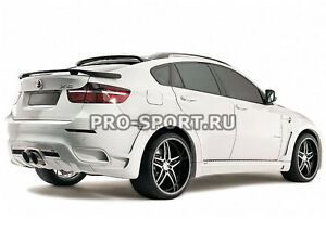 BMW X6 E71 2008-2014 unpainted lower trunk Hamman spoiler