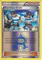 POKEMON TRAINER CARD - XY DOUBLE CRISIS - TEAM AQUA GRUNT 26/34 REV HOLO