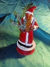 alter Candy Container Weihnachtsmann Candy Box Pappe Pappmache Erzgebirge?