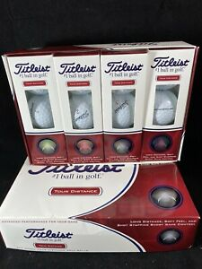 TITLEIST TOUR DISTANCE BOX GOLF BALLS 18 Balls Total 6 Sleeves F3