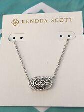 Kendra Scott Elisa/Brie Pendant Necklace in Silver Filigree