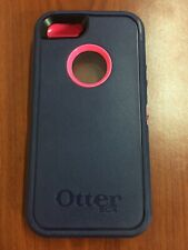 Otterbox Defender Case with Clip for iPhone 5 5S SE  - Navy Blue/Pink