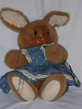Vintage Robert Raikes Aunt Marylou Rabbit Plush Doll Toy with Tag Numbered