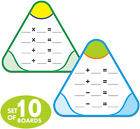 Hebayy 10 PCS Math Education Triangle Boards Flash Cards,Easy Wipe and Reusable,