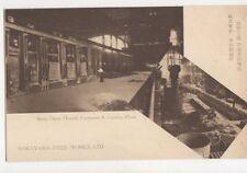 Nakayama Steel Works Open Hearth Furnaces & Casting Plant Japan Postcard 627a