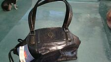 SIMPLY VERA by Vera Wang NWT black faux snake doctor sachel handbag