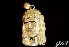 Real Genuine 10K Yellow Gold DETAILED 3D JESUS HEAD Pendant Charm Piece
