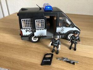 Playmobil 6043 Polizei-Mannschaftswagen mit Licht und Sound Police