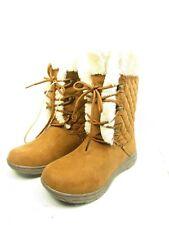 St. John's Bay Womens Cafferty Winter Boots Lace-up Chestnut Size 7W