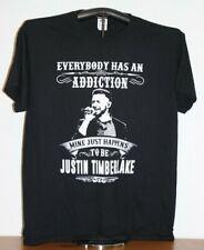 Justin Timberlake- Everybody Has An Addiction.T-Shirt Large, Black
