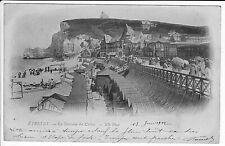 CPA A L'ENVERS datée 13/06/1902 - ETRETAT La Terrasse du Casino /ETRETAT à PARIS