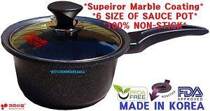 Kitchen Art  Stone Coating Marble Coating Nonstick Sauce pot set KR FREE GIFT