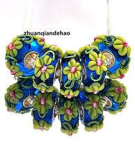 5pcs MURANO Lampwork charm Beads fit 925 silver European Bracelet Chain a991