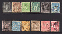 France 1872-80 Peace & Commerce  Selection of 12 Used Stamps (8967)