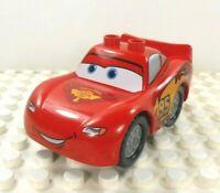 Lego Duplo Item Car #95 Hudson Hornet Piston Cup 2x4 Base Red w/ silver wheels