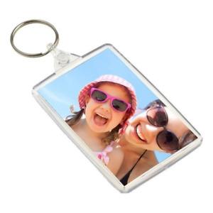 BLANK Photo Key Ring Keyrings 1 5 10 25 50 100  Insert Size 45 x 70mm 32 x 40mm
