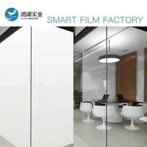 White To Opaque PDLC Smart Window Film Electrochromic Switchable Glass Tint A4
