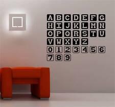 Números Alfabeto Niños Pegatina Adhesiva Vinílica Pared Infantil