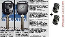 Chiave + 2 switch interruttori scocca guscio cover key YARIS COROLLA RAV 4 (8mm)