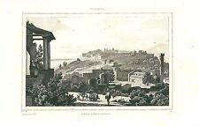 1836 FIESOLE Firenze Toscana acquaforte orignale su acciaio