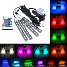 Full Color Glow LED Car Interior Under Dash Foot Accent Light Kit wateterproof