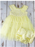 NEW Jona Michelle Baby Girl's Party Dress - YELLOW LACE - VARIETY