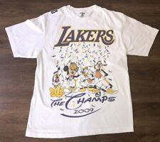 Los Angeles Lakers 2009 Champs T-shirt Disney Kobe Mickey Mouse NBA Champions L